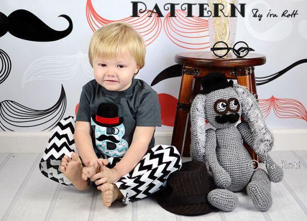 Sam the Steampunk Bunny Rabbit Stuffed Animal Crochet Pattern
