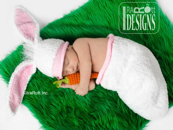 Knit Baby Hat, Cocoon, and Carrot Set