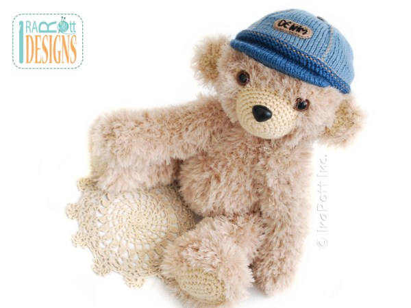 Teddy bear in denim cap 2