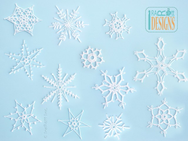 Christmas Crochet Snowflakes Pattern
