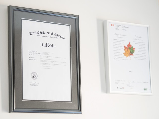 IraRott registered trademark in Canada and USA