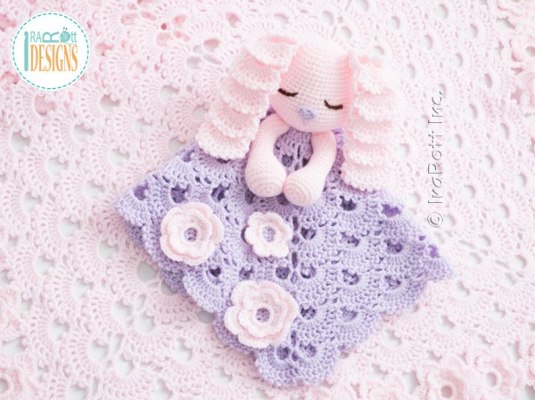 Sunny the Sleepy Bunny Crochet Security Blanket Lovey Pattern by IraRott
