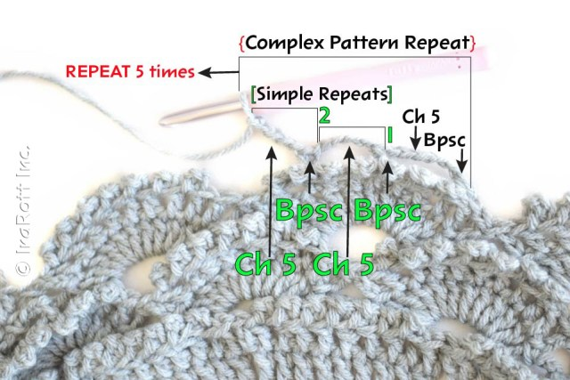 Complex pattern repeat how to understand crochet patterns