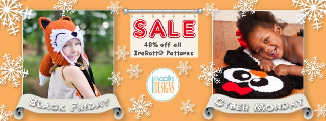 Black Friday to Cyber Monday Biggest Sale of the Year at IraRott Patterns