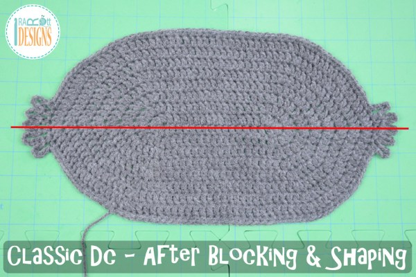 Classic double crochet stitch worked in the round after blocking