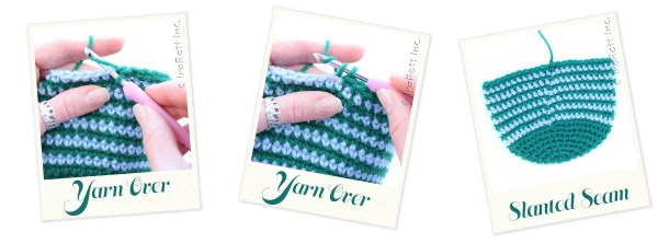Classic Single Crochet with Slanted Seam