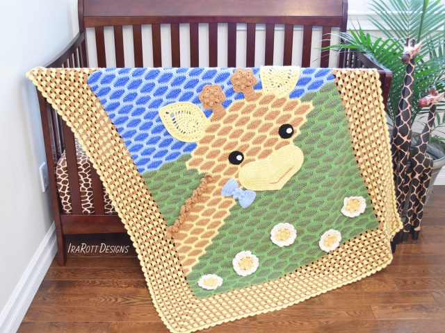 Rusty The Giraffe Crochet Blanket Pattern by IraRott