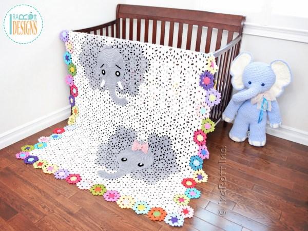 Josefina and Jeffery Elephant Blanket Crochet Pattern by IraRott