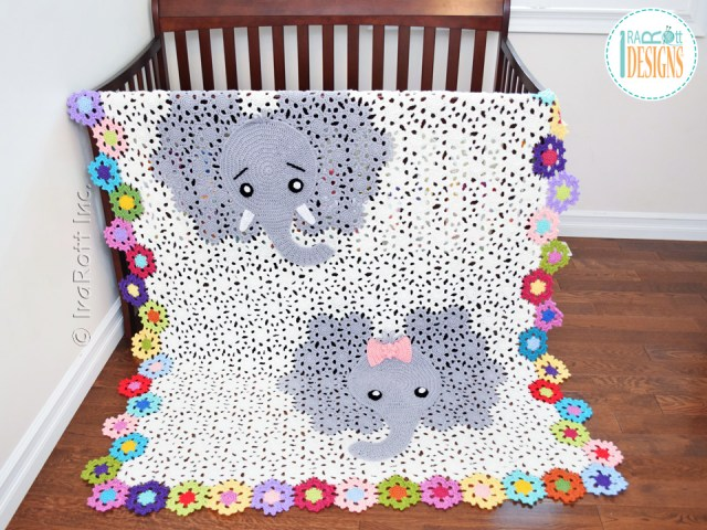 Josefina and Jeffery Elephant Blanket Crochet Pattern by IraRott