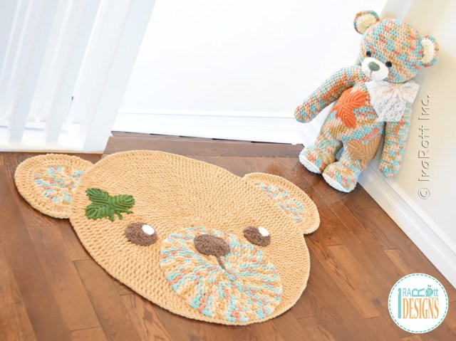 Classic Teddy Bear Crochet Rug Pattern by IraRott