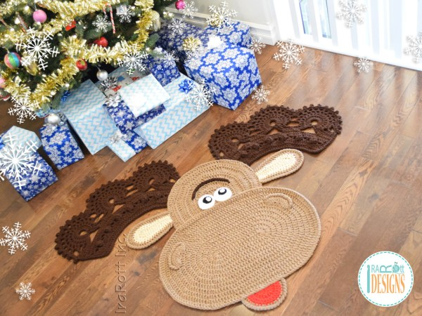 Moose Rug Crochet Pattern by IraRott for Christmas 2017