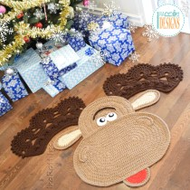 Moose Rug Crochet Pattern by IraRott for Christmas 2017