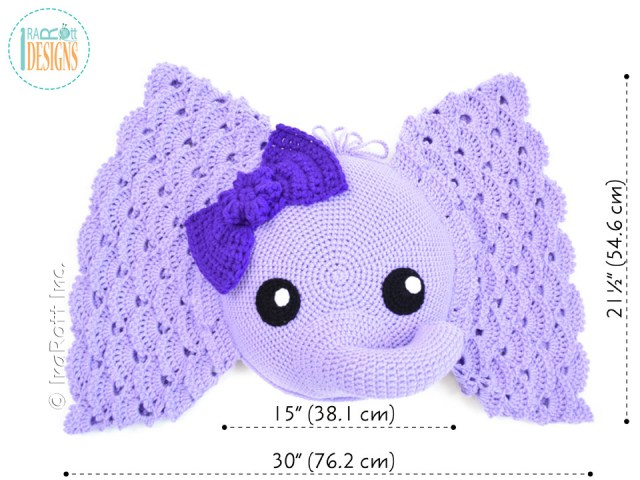 Crochet Elephant Pillow Pattern By IraRott