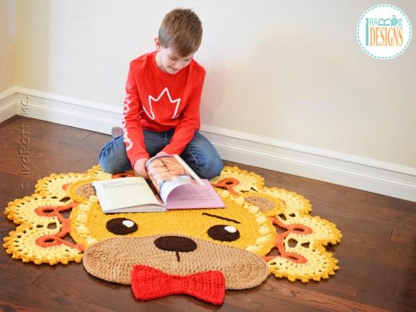 Lion Leonardo Crochet Rug Pattern by IraRott