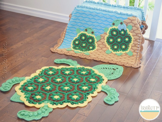 Bubbles the Turtle Crochet Blanket and Rug Patterns by IraRott