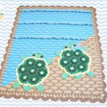 Bubbles the Turtle Crochet Blanket Pattern by IraRott