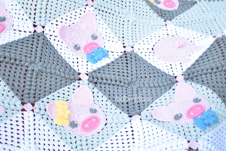 Crochet Pig Blanket Pattern