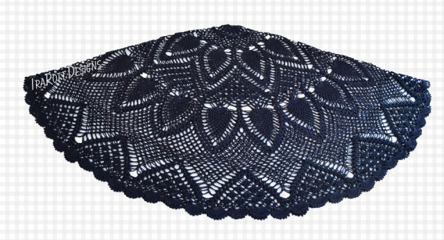 Pineapple Lace Crochet Parasol Cover