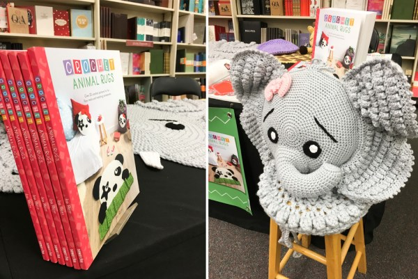 Crochet Animal Rugs Book Signing events by Ira Rott