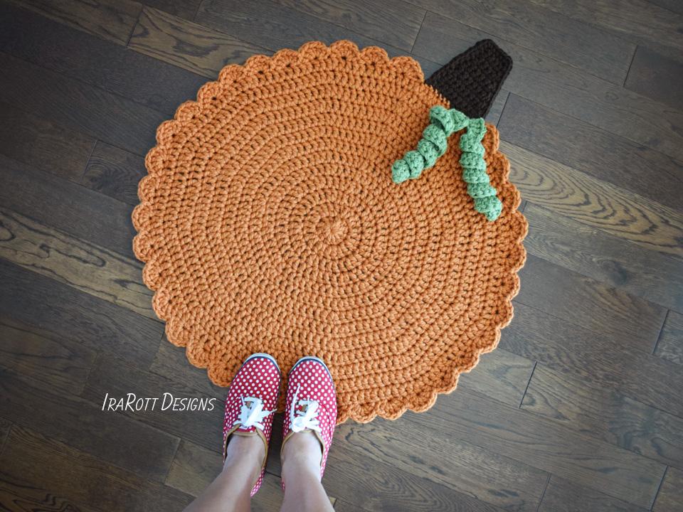 Crochet Pumpkin Rug Free PDF Pattern By IraRott