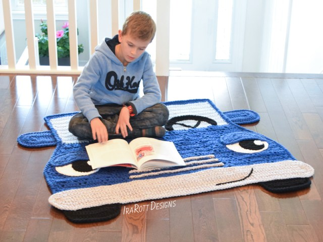 Jimmy The Hybrid Car Crochet Rug Pattern By IraRott
