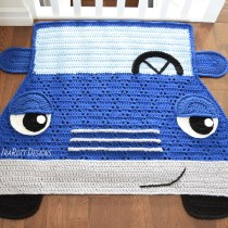 Jimmy The Hybrid Car Crochet Rug Pattern By IraRott