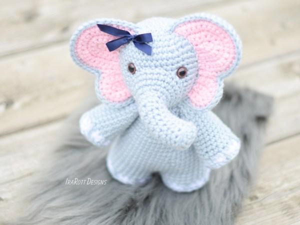 Josefina Chubby Little Elephant Crochet Amigurumi