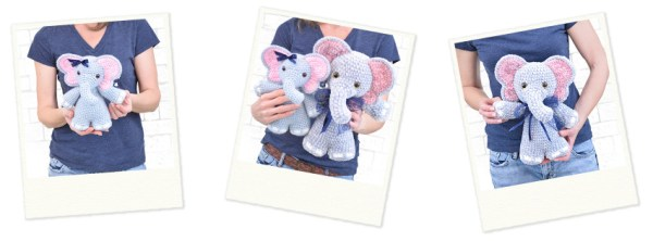 Josefina and Jeffery Chubby Little Elephants Crochet Amigurumi