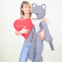 Sassy The Big Kitty Cat Crochet Pattern by Ira Rott