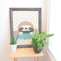 Crochet Sloth Wall Hanging
