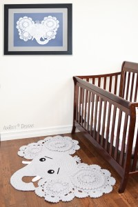 Elephant Rug Crochet Pattern by IraRott