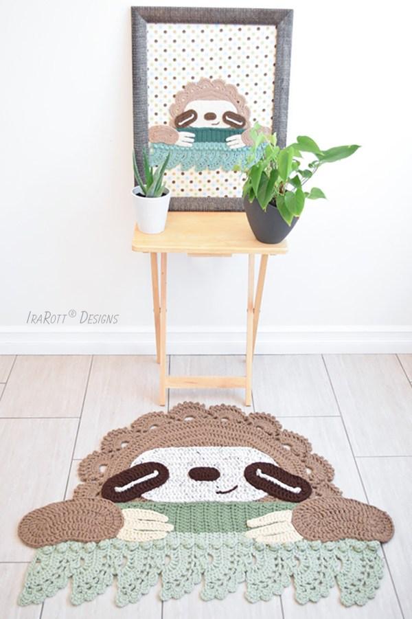 Sloth Rug Crochet Pattern by IraRott