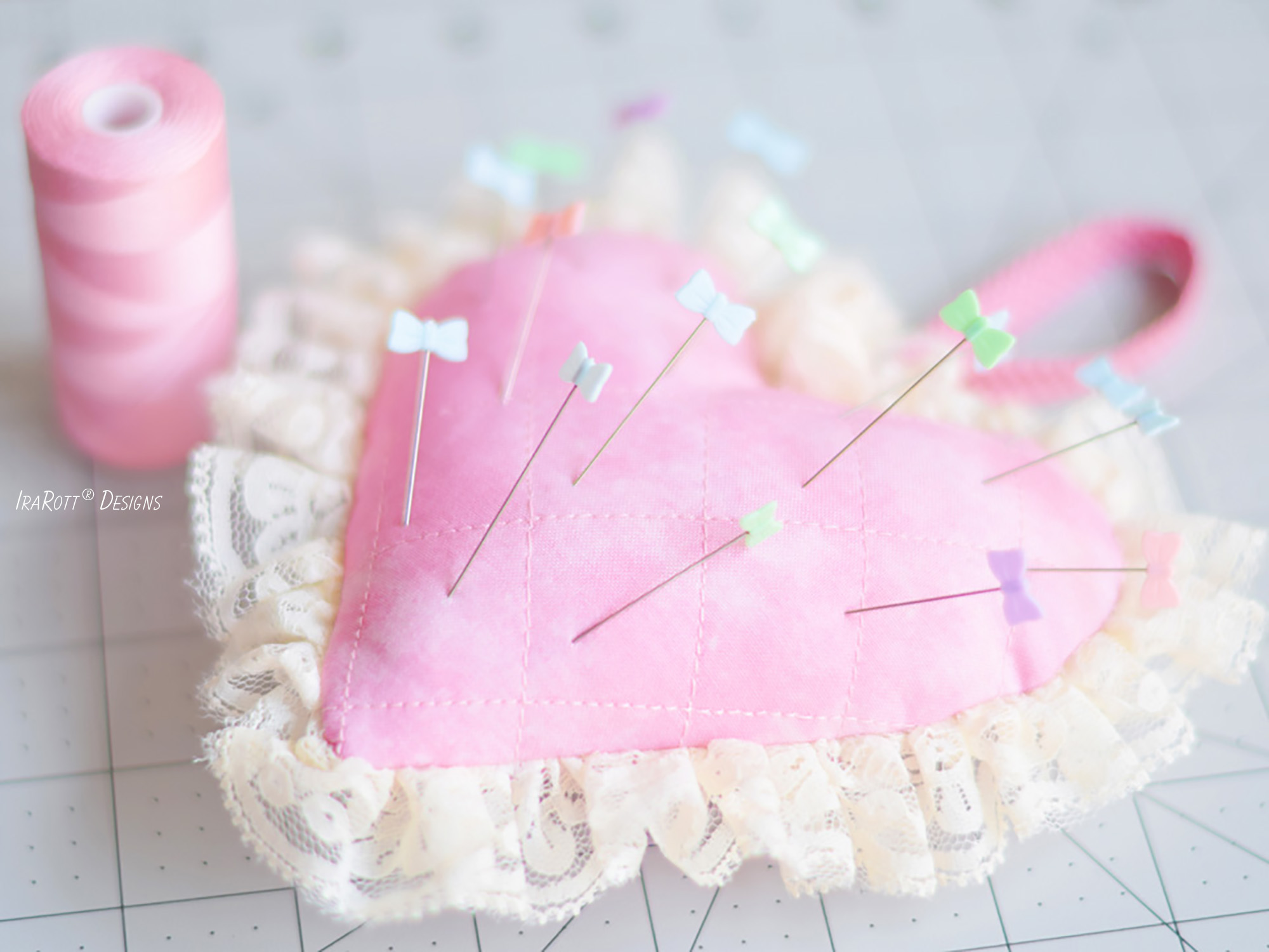 Cupid's Heart Pincushion