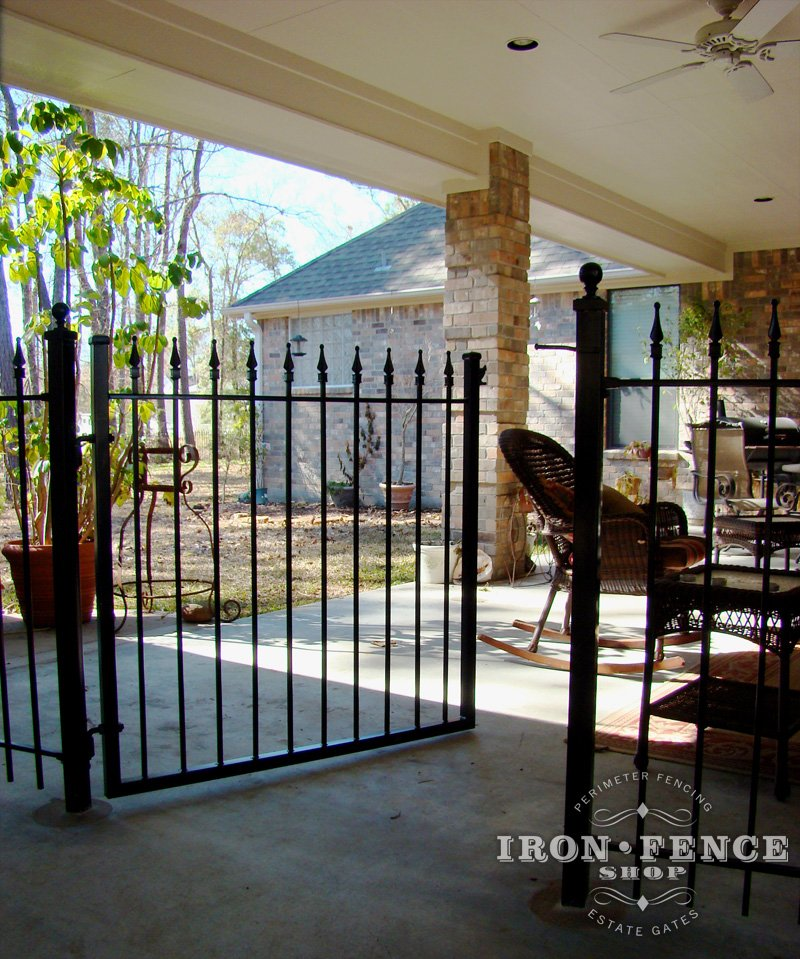 mounting wrought iron fence on top of