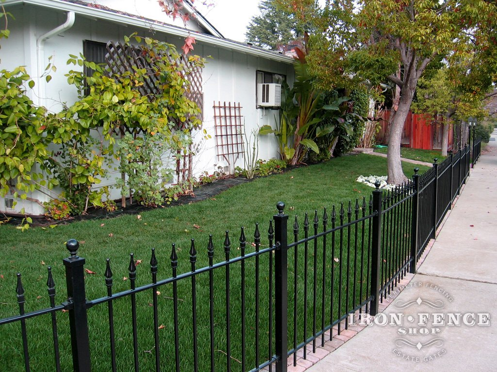 Installing Wrought Iron Fence Panels Around a Radius Curved or Angled Area  Iron Fence Shop Blog