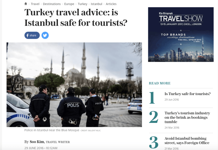 Turkey travel advice: is Istanbul safe for tourists?