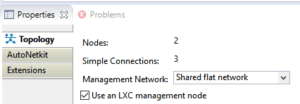 Shared Management Network in siumultion
