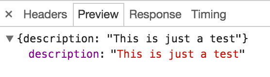 POST method response in browser debugger
