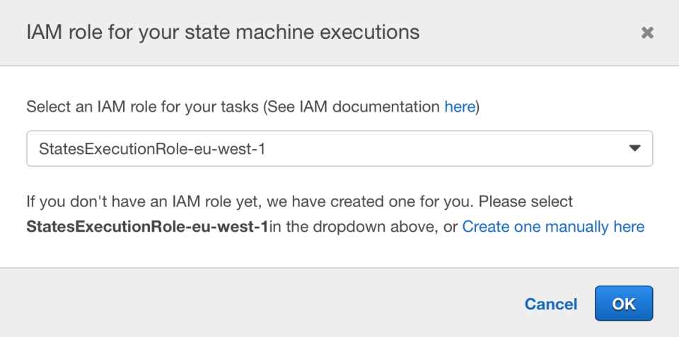 AWS Step Function IAM Role