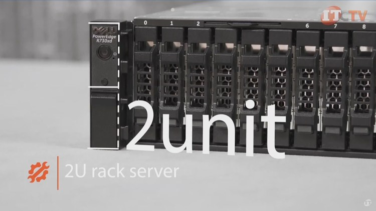 Dell PowerEdge R730xd front of 2U system