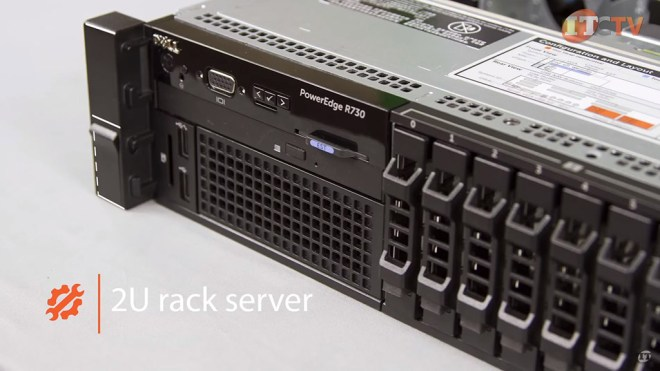 poweredge r730 front of system detail