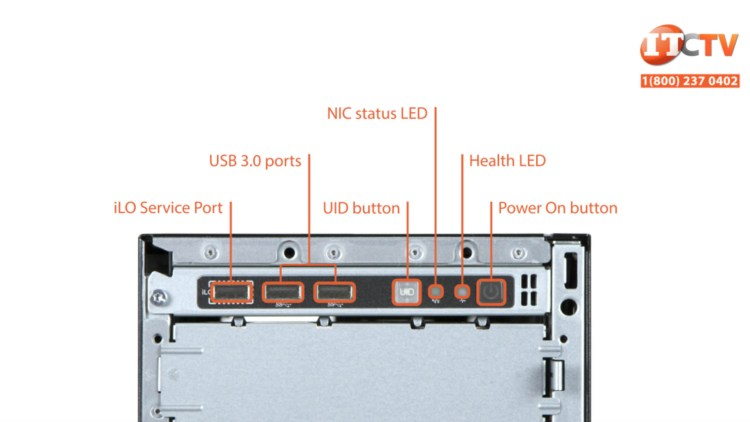 HPE ProLiant ML350 G10 front ports