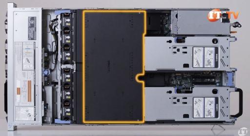Dell EMC PowerEdge R840 Server Fans & Black Air Shroud