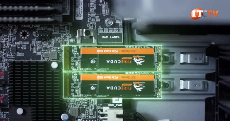 M.2 installed in Lenovo P620 Threadripper Pro workstation