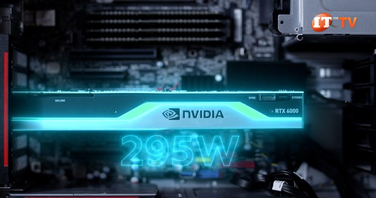 NVIDIA GPU RTX 6000 installed in the ThinkStation P620 workstation