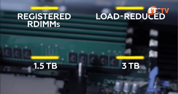 RDIMM and LRDIMM maximum memory capacity on Dell PowerEdge MX740c