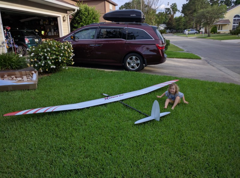 My 3.5 year old for size comparison to the Xplorer Mark 3