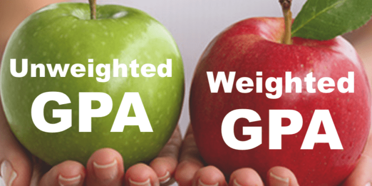 weighted/unweighted 加權GPA