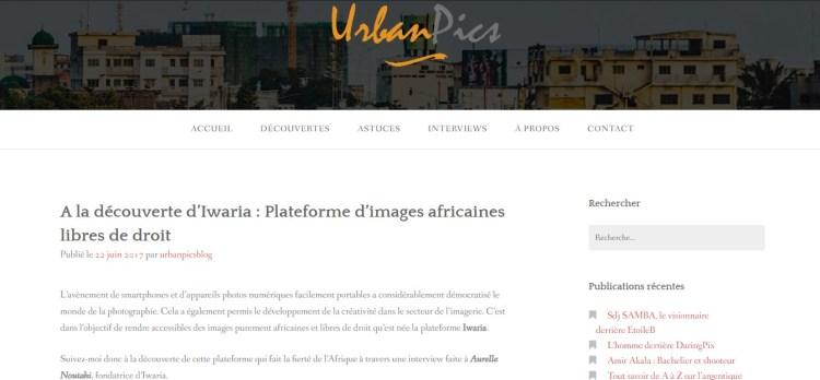 Article d'Urban Pics présentant Iwaria