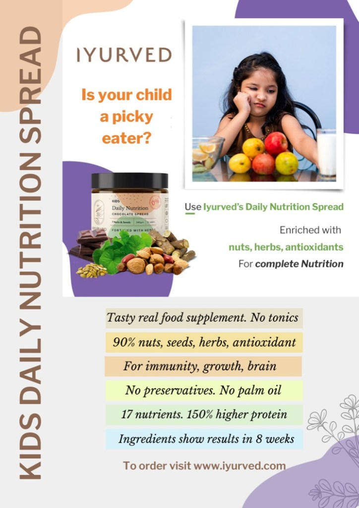 Ayurvedic chocolate spread by Iyurved, Health foods for kids